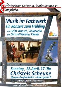 Plakat Konzert in Christels Scheune Hanau