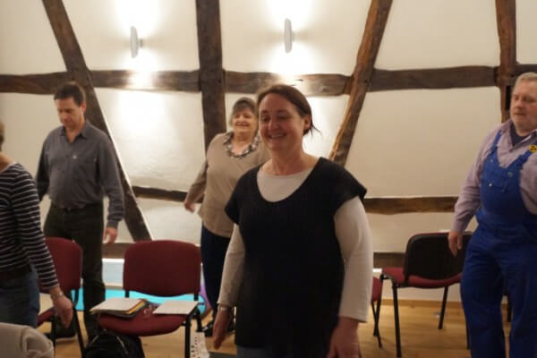 Seminarteilnehmer in Christels Scheune Training Coaching Hanau