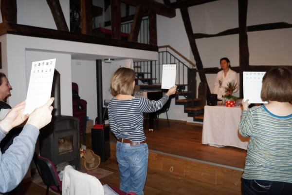 Jerkovs Augentraining in Christels Scheune Hanau Training Coaching