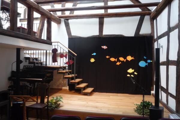 Bühnenbild Christels Scheune Hanau Kindermusiktheater