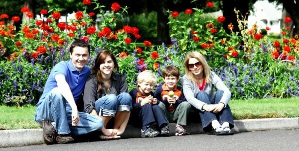 Familie am Strassenrand Workshop für Eltern in Christels Scheune