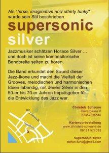 Plakat Supersonic Silver Konzert in Christels Scheune Hanau