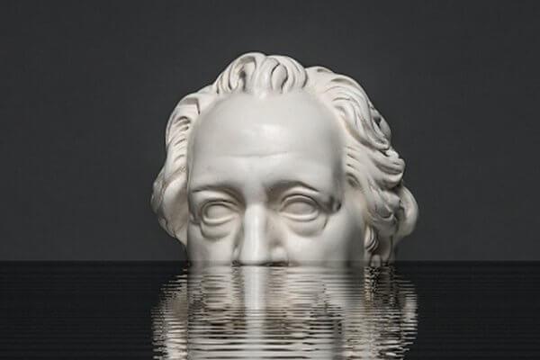 Kopf von Goethe im Wasser - Veranstaltung in Christels Scheune Hanau Coaching, Seminare