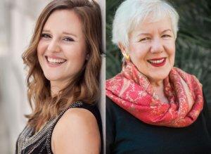 die Künstler Sophie Wenzel und Angelika Nebel, Konzert in Christels Scheune 2019