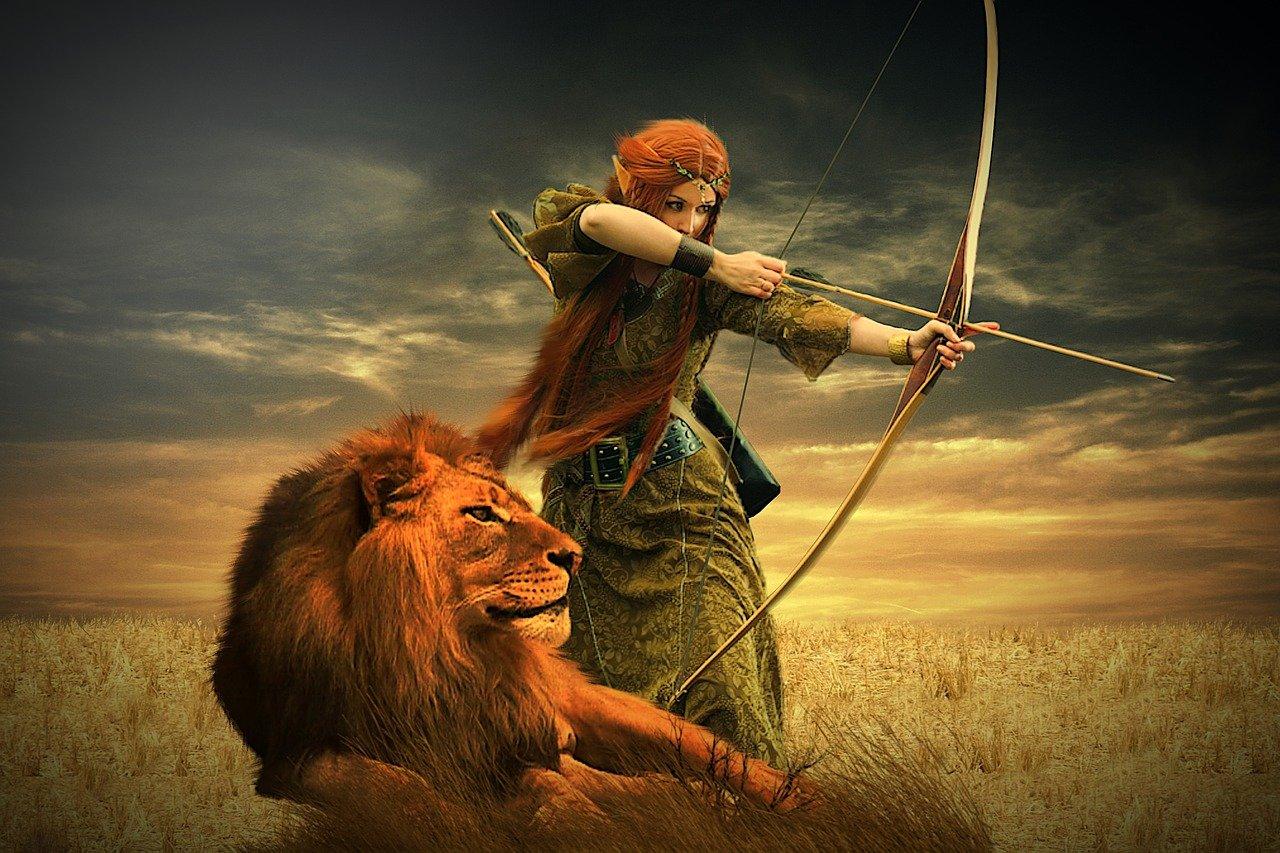 Heldin mit Löwe Geschichten des Lebensin Christels Scheune